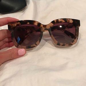 DIFF Carson tortoise rose gradient sunglasses